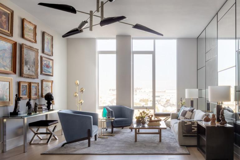 Interior designer Eche Martinez's creates a contemporary space showcasing the client's art collection.